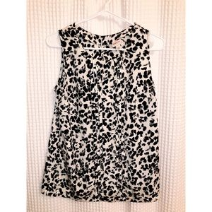 Merona size small/petite blouse - black/white